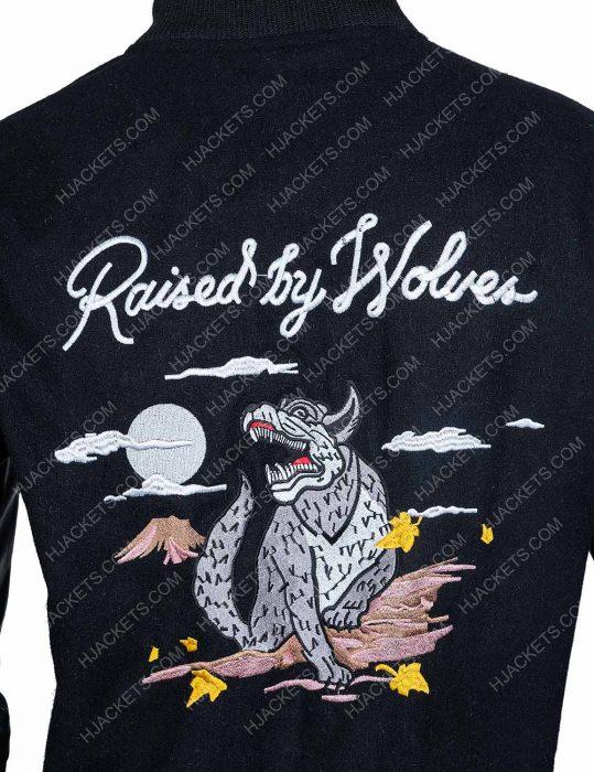 Raised By Wolves Souvenir Redux logo Varsity Jacket