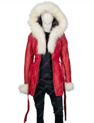 The Christmas Chronicles Goldie Hawn Hooded Leather Jacket