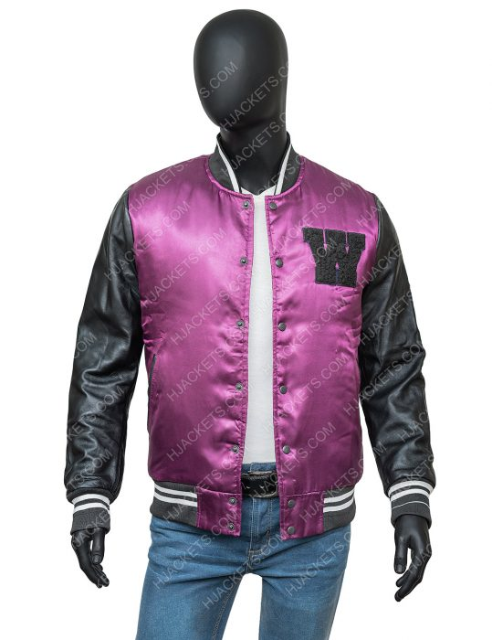 The Weeknd H&M Black and Purple Jacket