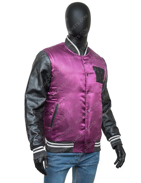 The Weeknd H&M Black and Purple Stylish Jacket