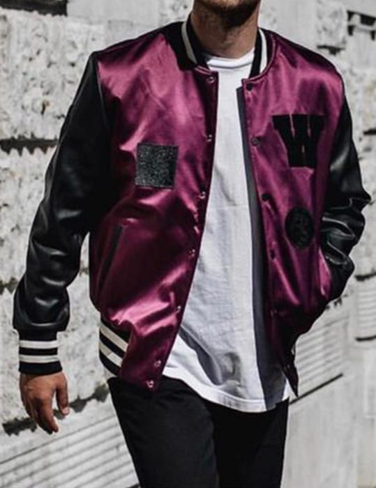 The-Weeknd-Stylish-Purple-Jacket