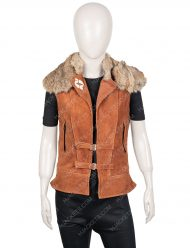 Zombies 2 Ariel Martin Brown Leather Wynter Vest