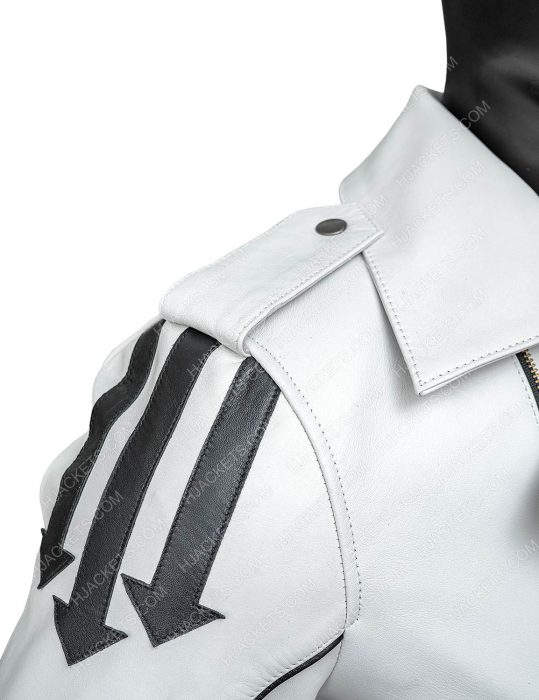Freddie Mercury Queen White Leather
