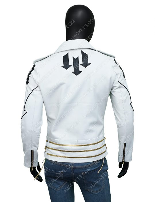 Freddie Mercury Queen White Leather Jacket