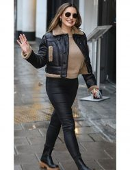Heart-Radio-Studios-Kelly-Brook-Jacket