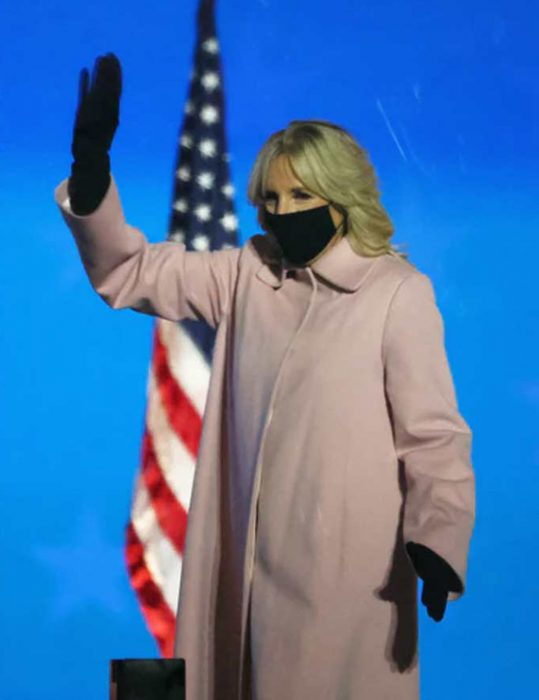 Jill-Biden-Pink-Trench-Coat