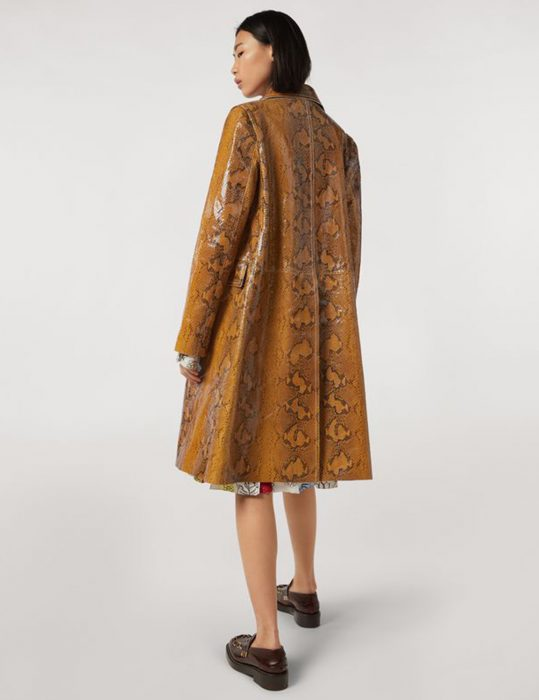 Kylie-Jenner-Python-Brown-Coat