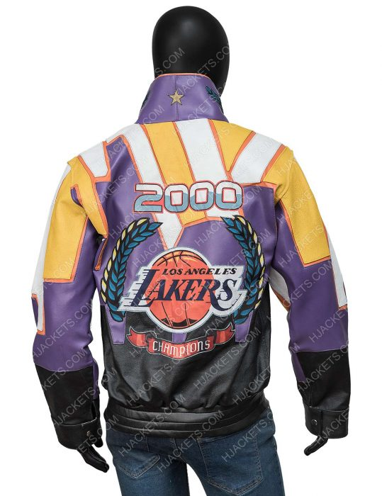 Lakers 2000 Finals NBA Championship Leather Jacket