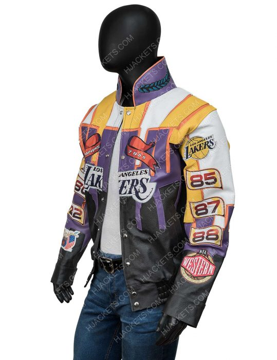 Los Angeles Lakers 2000 Finals Championship Leather Jacket