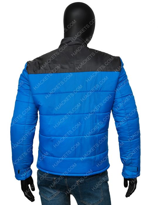 Micheal Ward Top Boy Season 03 Blue Puffer Jamie Jacket
