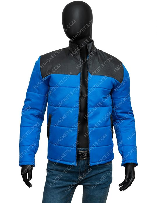 Micheal Ward Top Boy Season 03 Jamie Blue Puffer Jacket