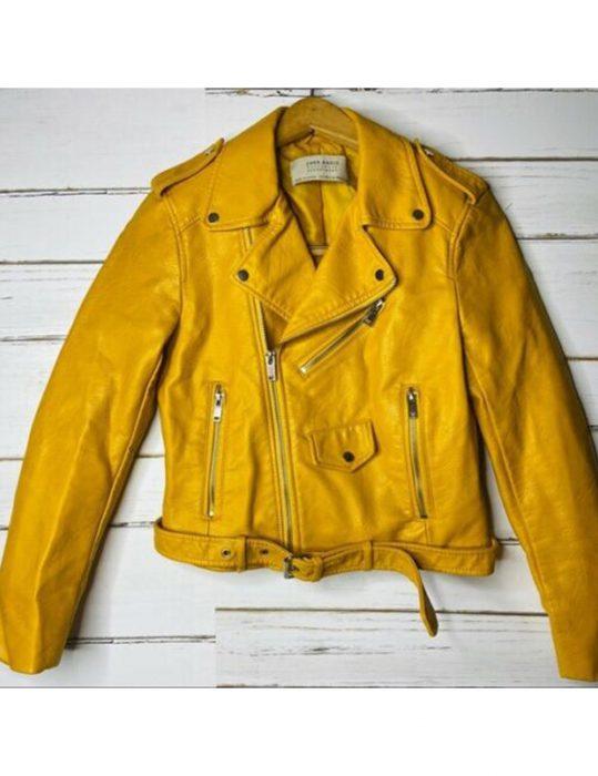 Shameless-Yellow-Leather-Jacket