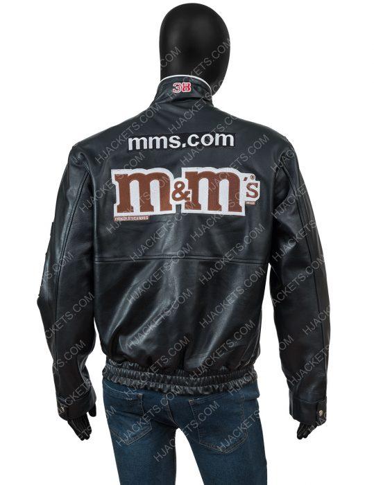 White Sox Fan M&ms Black Leather Jacket