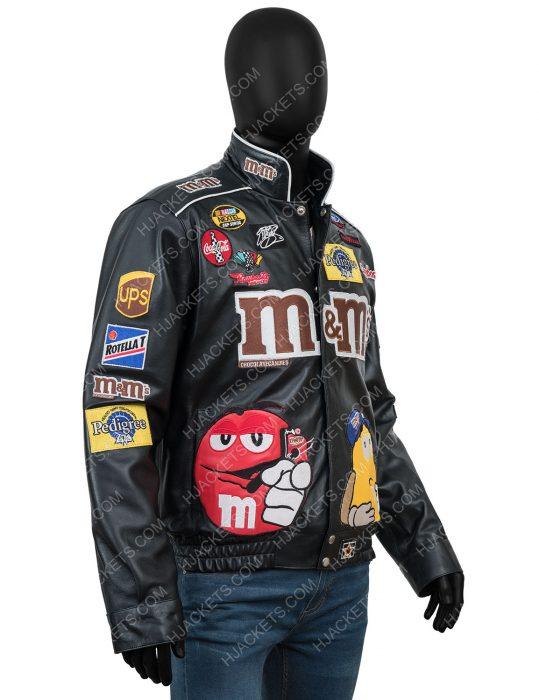 White Sox Fan M&ms Leather Black Jacket