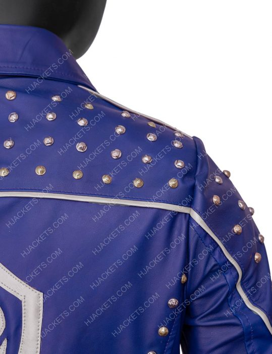 descendants 2 king ben blue leather jacket