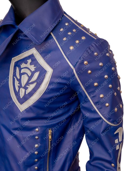 descendants 2 king ben blue studded jacket