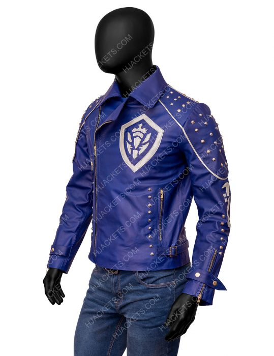 descendants 2 mitchell hope blue leather jacket