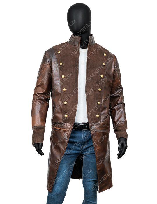 lionel erdogan brown leather la revolution albert guillotin coat