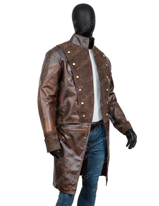 lionel erdogan la revolution albert guillotin brown leather coat