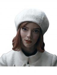 the queen's gambit anya taylor-joy white cap