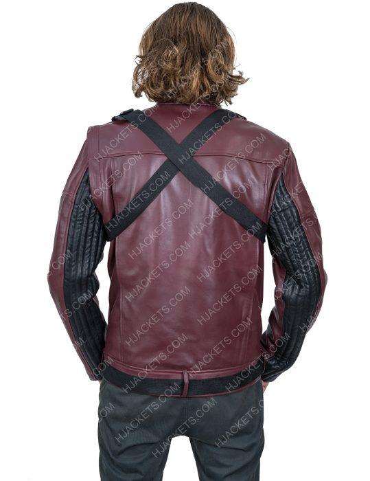 Bucky Barnes maroon Jacket
