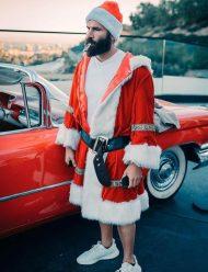 Santa-Claus-Dan-Bilzerian-Trench-Coat