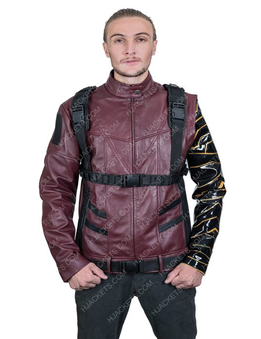 Sebastian StanThe Falcon And The Winter Soldier Bucky Barnes maroon Jacket