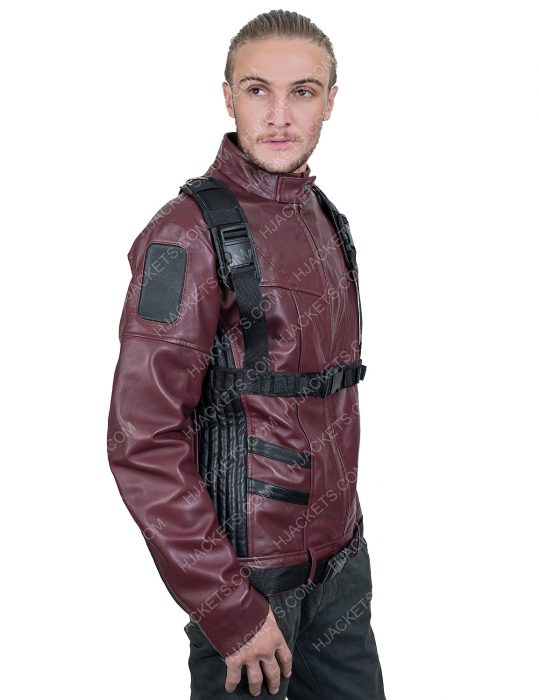 The Falcon And The Winter Soldier Bucky Barnes maroon Jacket