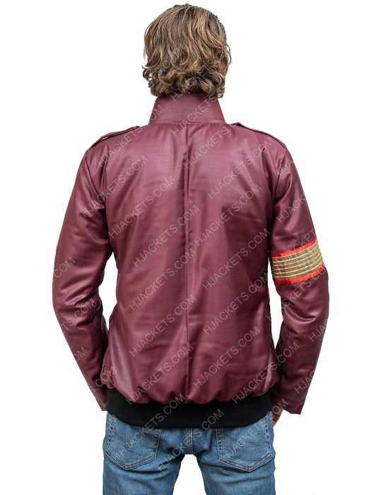 michael jackson maroon leather jacket