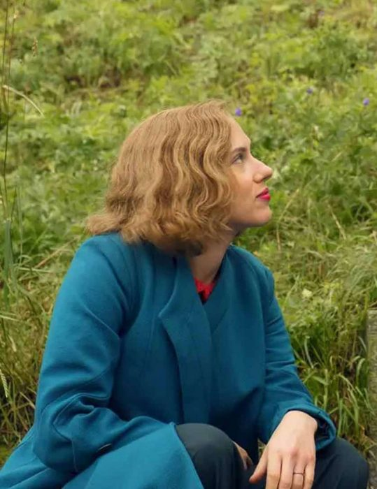 scarlett johansson jojo rabbit rosie betzler wool blue coat