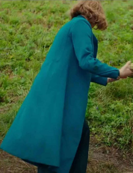 scarlett johansson jojo rabbit wool blue coat
