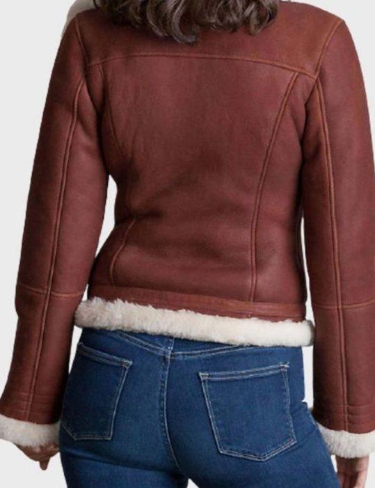 womens brown shearling jacket