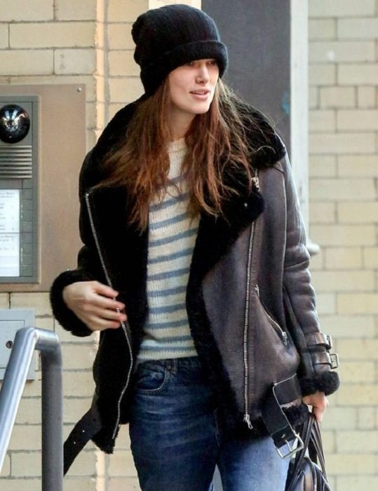Keira Knightley B3 Genuine Leather Jacket