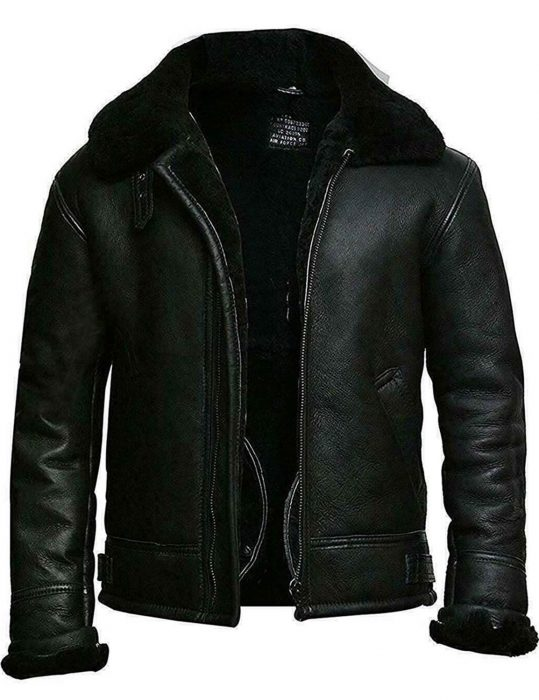 Men's-Black-Aviator-Bomber-Jacket