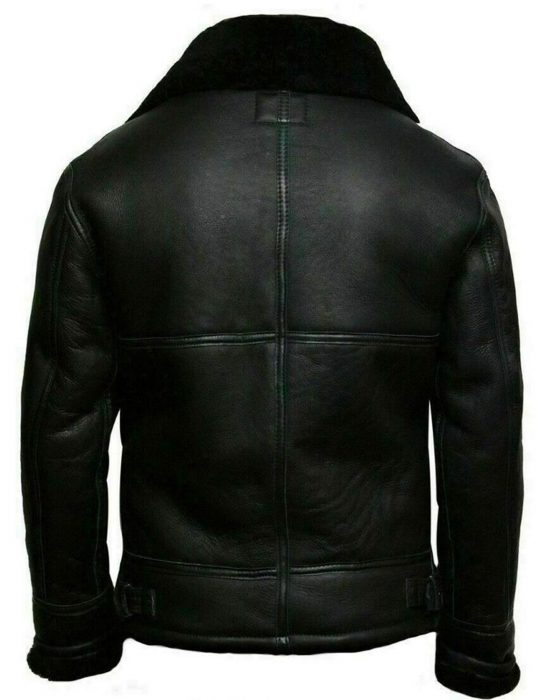 Men's-Black-Aviator-Wool-Blend-Bomber-Jacket
