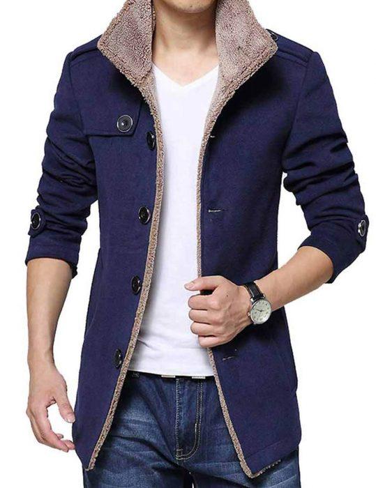 Men's-Blue-Shearling-Jacket