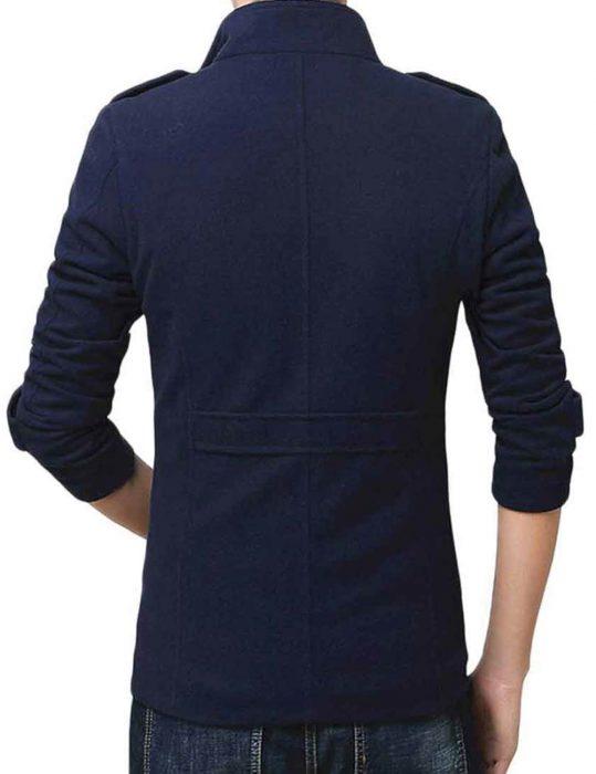 Men's-Blue-Wool-Blend-Shearling-Jacket-For-Winters