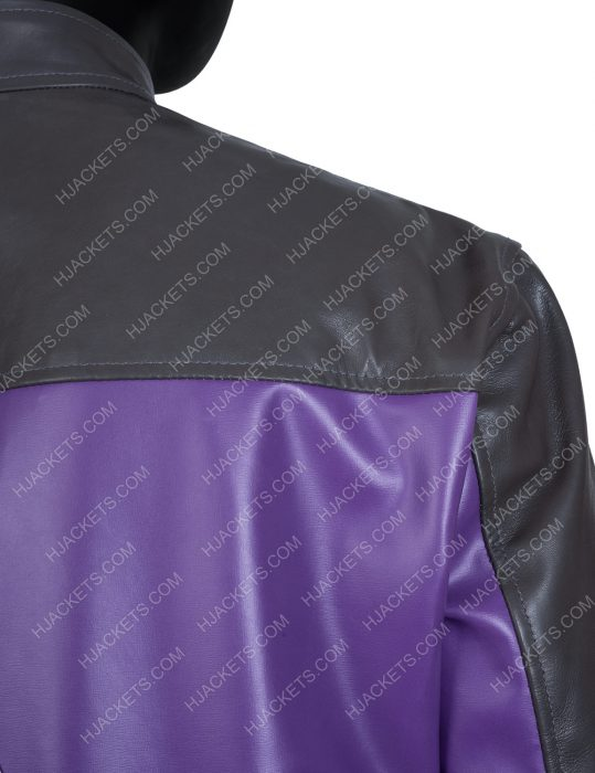 Saints Row Johnny Gat Blue and Black Leather Jacket