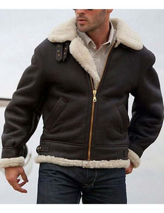 Sylvester-Stallone-Shearling-Bomber-Aviator-Leather-Jacket
