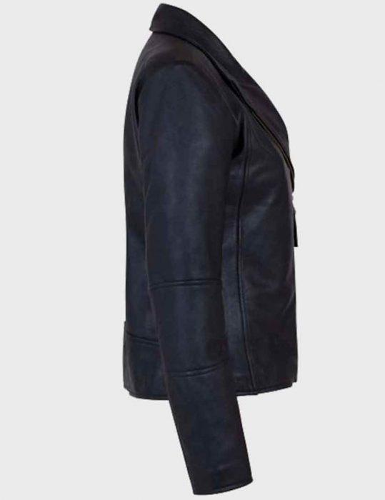 Women's-Asymmetrical-Black-Shawl-Collar-Leather-Jacket