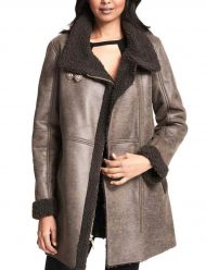 Women's-Asymmetrical-Faux-Shearling-Trench-Coat
