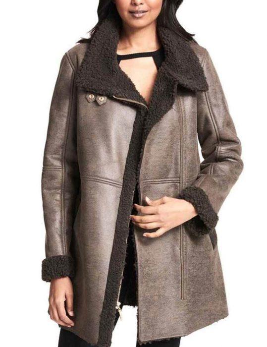 Women's-Asymmetrical-Faux-Shearling-Trench-Coat