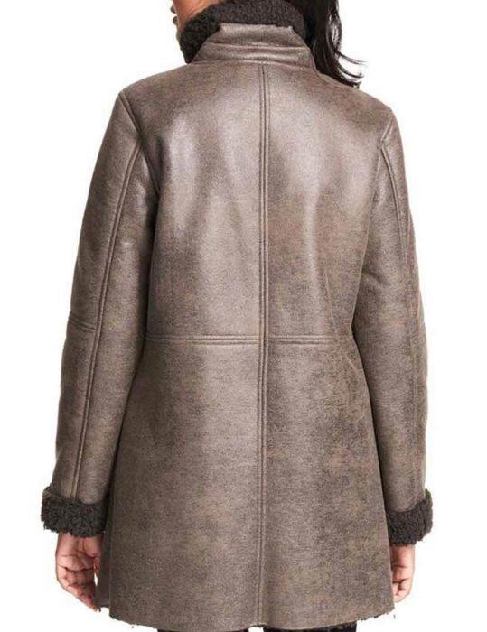 Women's-Asymmetrical-Faux-trench--Coat