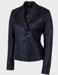 Women's-Shawl-Collar-Leather-Jacket