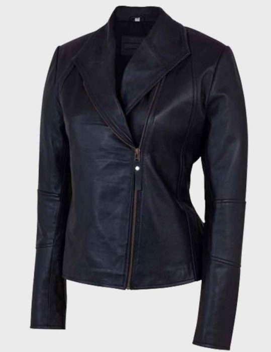 Women's-Shawl-Collar-Leather-Jacket