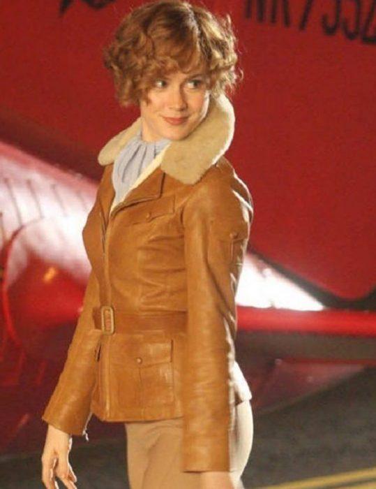 amy adams aviator leather jacket