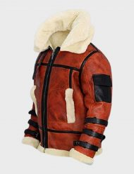 aviator b6 sheepskin leather bomber jacket