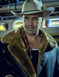 billy zane curfew tv series brown shearling leather jacket