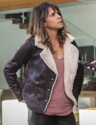 halle berry aviator leather jacket