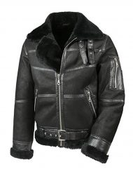 men's aviator b16 shearling leather jacket